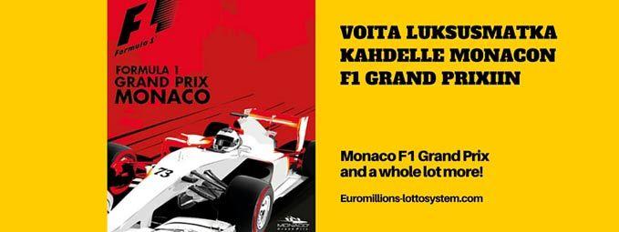 Voita luksusmatka kahdelle Monacon F1 Grand Prixiin